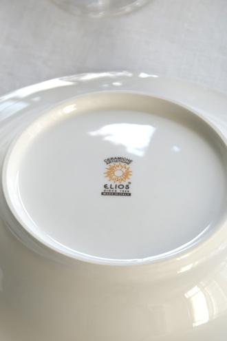 ELIOS FINEZZAスープパスタプレートクリーム