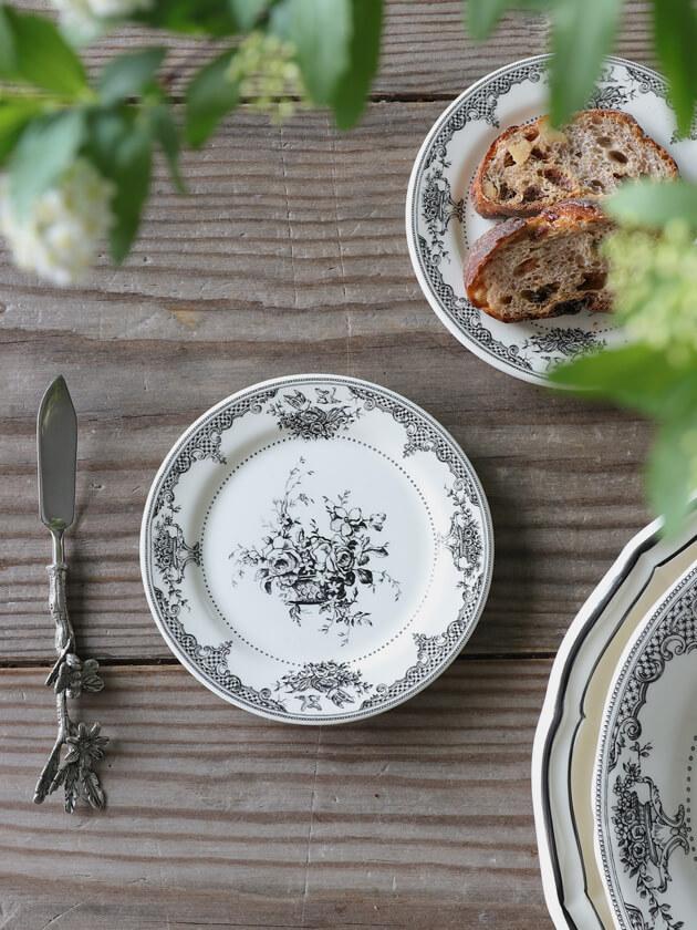 Gienパン皿Fleurs Depareillees