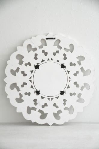 AffariミラーCARVEホワイト60cm