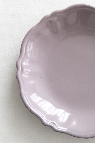 Bleu D'Argile Louis XVスープ皿モーヴ22cm