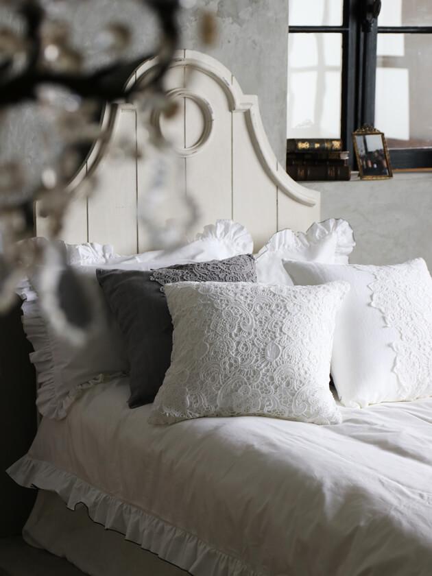 Chez moiクッションカバーVeneziaホワイト50x50cm
