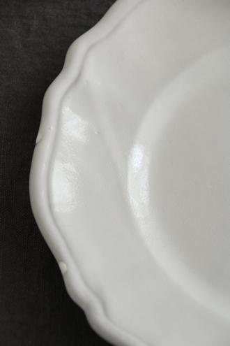 Bleu D'Argile Louis XVディナープレートホワイト25cm
