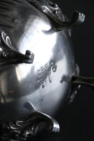 フレンチアンティーク脚付きロカイユポット