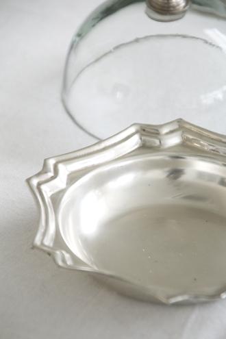 QUAINT&QUALITYガラスドーム&メタルプレートミニ