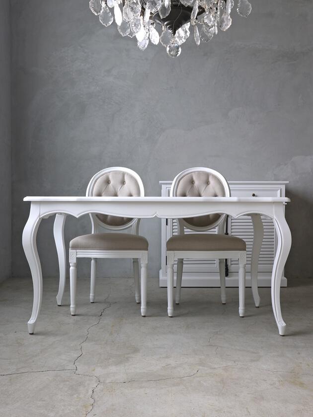 SGDダイニングテーブルElegance145cmホワイト