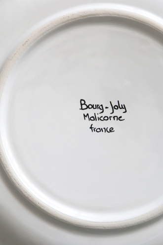 Bourg-Joly Malicorneフリルプレート Chevet