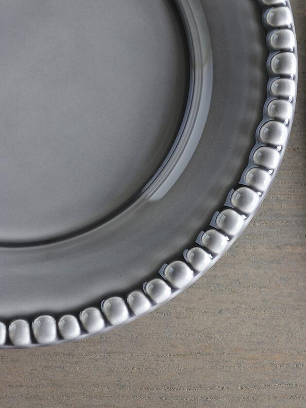 PotteryJoデザートプレートDARIAグレー22cm
