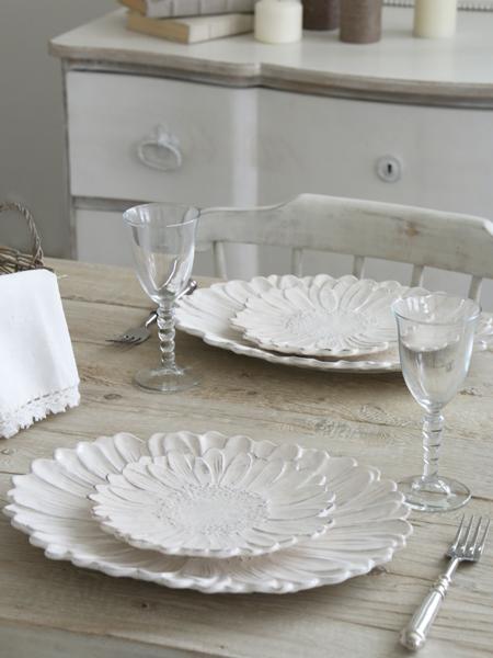 Virginia Casa ROMANTICAマルゲリータプレート ホワイト