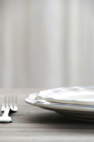 Gien Filet ディナープレート ブルー 27cm