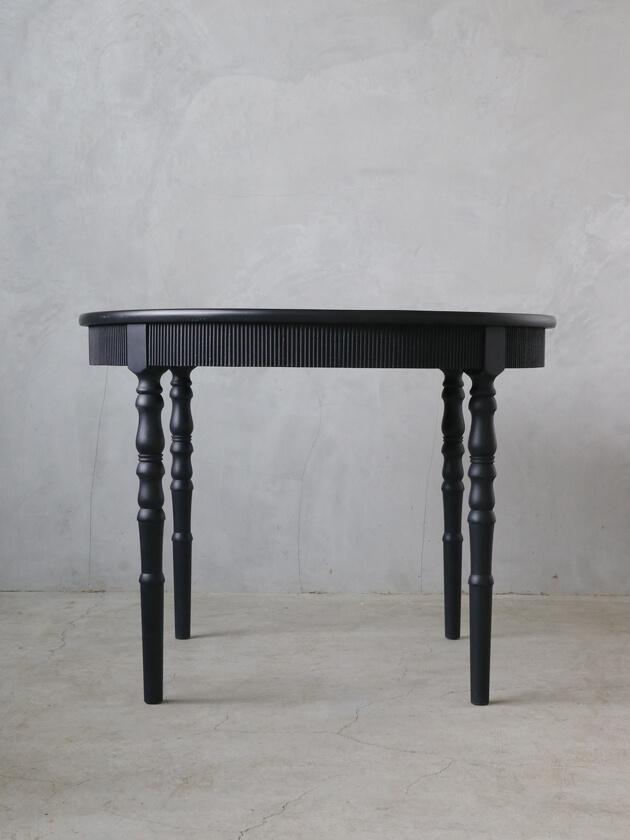 BlancNatureラウンドテーブルブラック