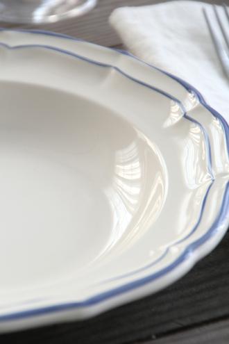 Gien Filet パスタプレート ブルー 23cm