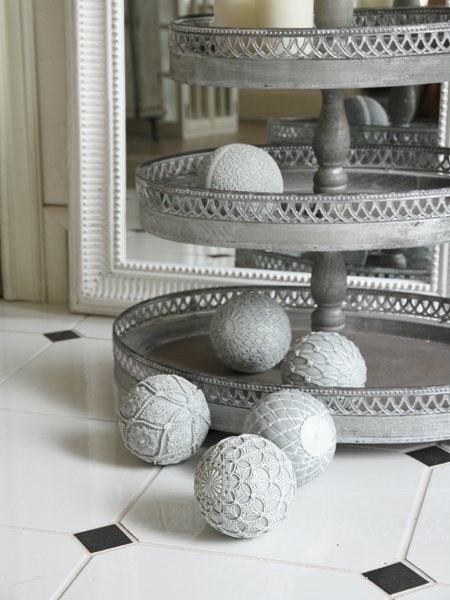 Cote Table デコレーションボールDouceグレー9.5cm