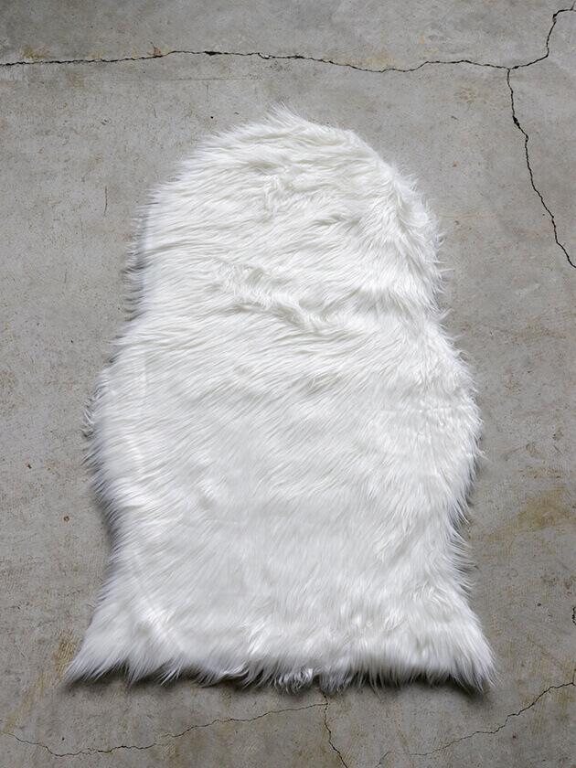 AffariエコファーラグFALLホワイト