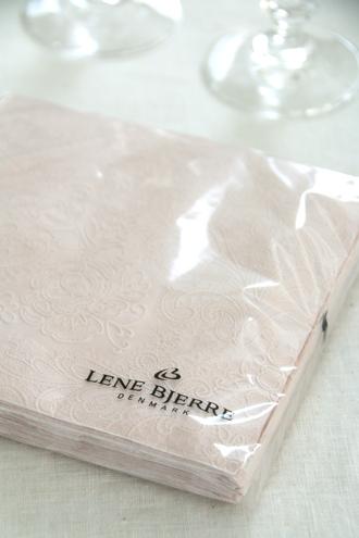 Lene BjerreペーパーナプキンUni Laceパウダー33x33cm
