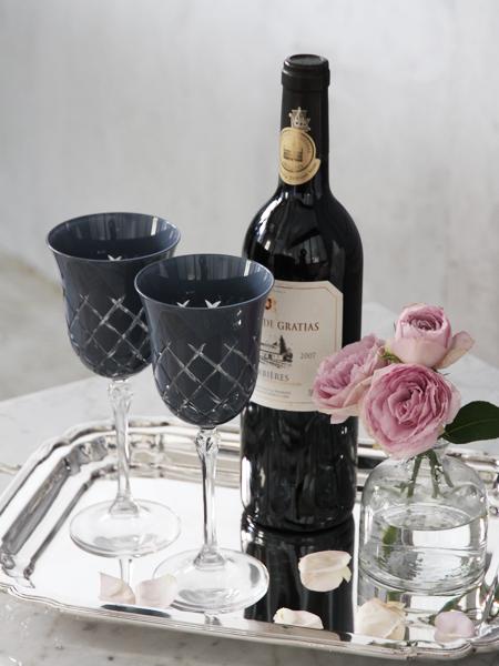BLANC D'IVOIRE PALOMAワイングラスグレー