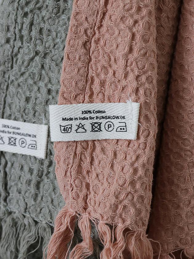 BUNGALOW DENMARKワッフルバスタオル70x120cm