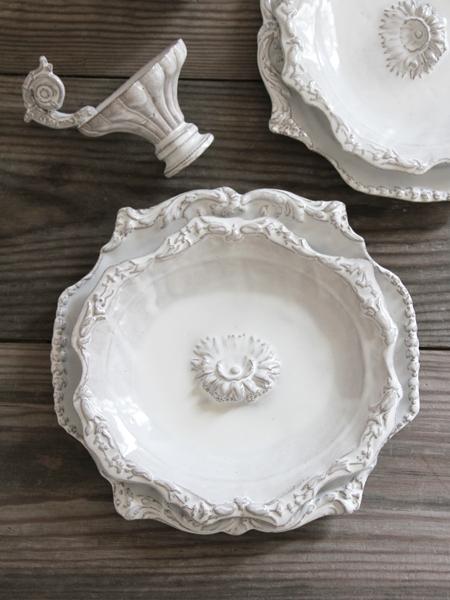 JBAdeV,creations depuis 1993 / Jean Baptiste Astier de Villatteポンパドールスープ皿フルール(030/006)