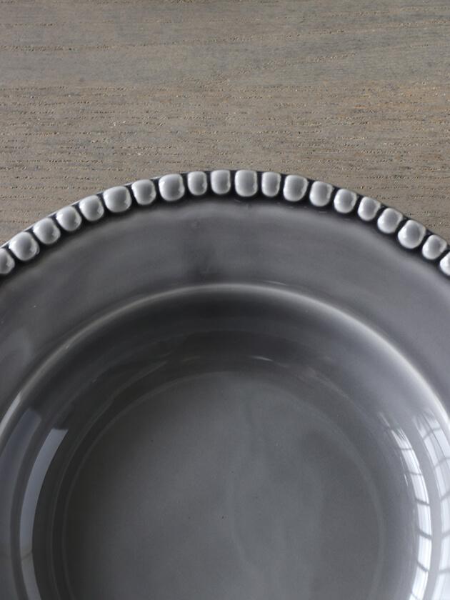 PotteryJoスープ・パスタプレートDARIAグレー26cm