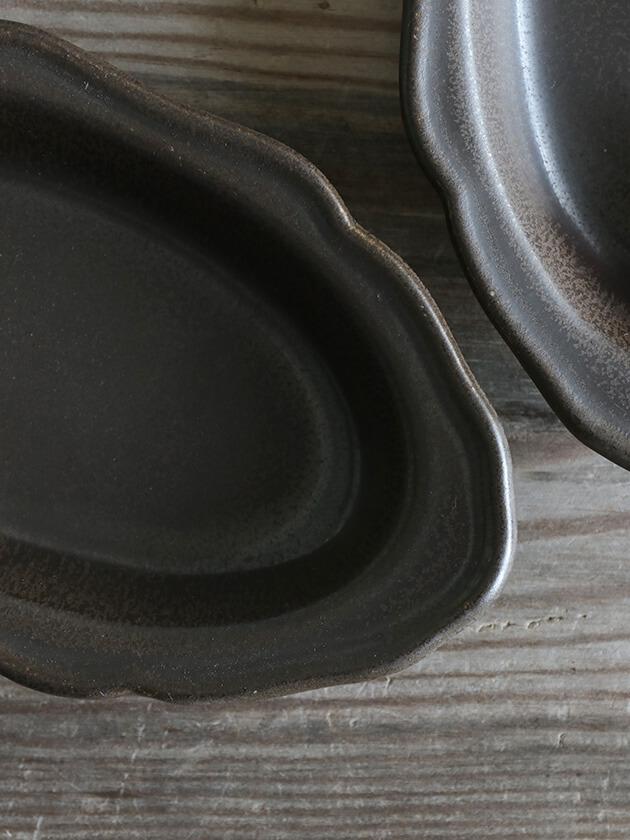 Awabi ware耐熱グラタン皿Sマットブラック