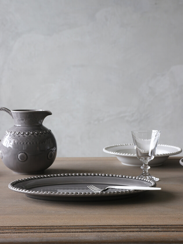 PotteryJoオーバルプレートDARIAグレー