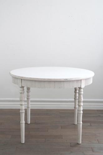 Blanc Natureラウンドダイニングテーブルアンティークホワイト