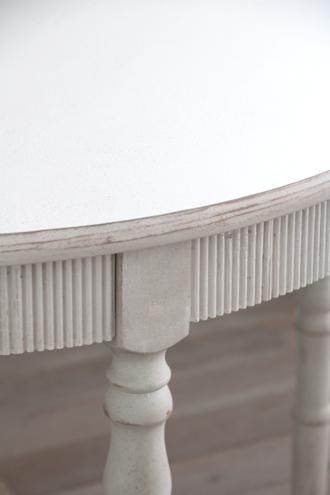 BlancNatureラウンドダイニングテーブルアンティークホワイト