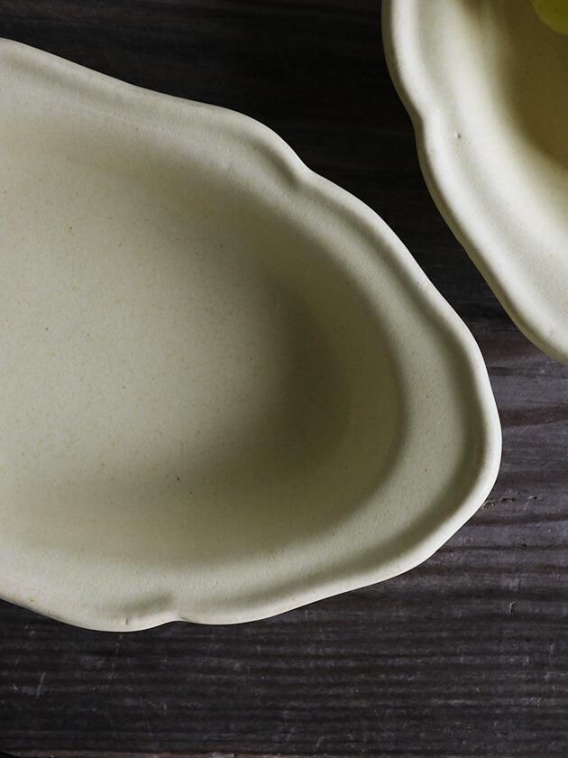 Awabi ware耐熱グラタン皿Sアイボリー