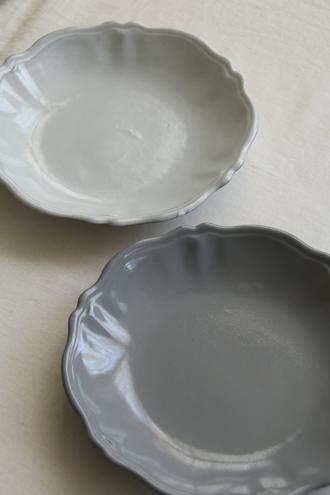 Bleu D'Argile Louis XVスープ皿グレー22cm