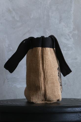 Anne BeckerモノグラムバッグブラックSサイズ