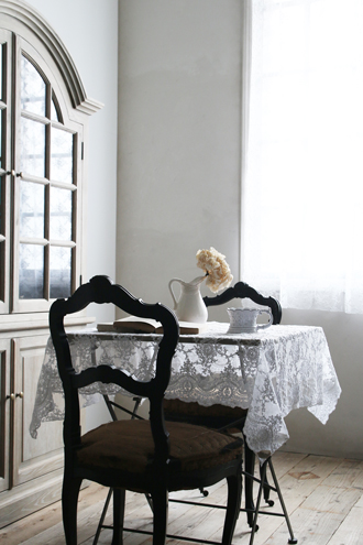 Chez moiテーブルクロスCorinzioホワイト
