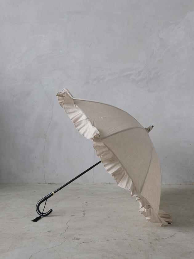 Kiwandaショート傘リネンクロスフリル