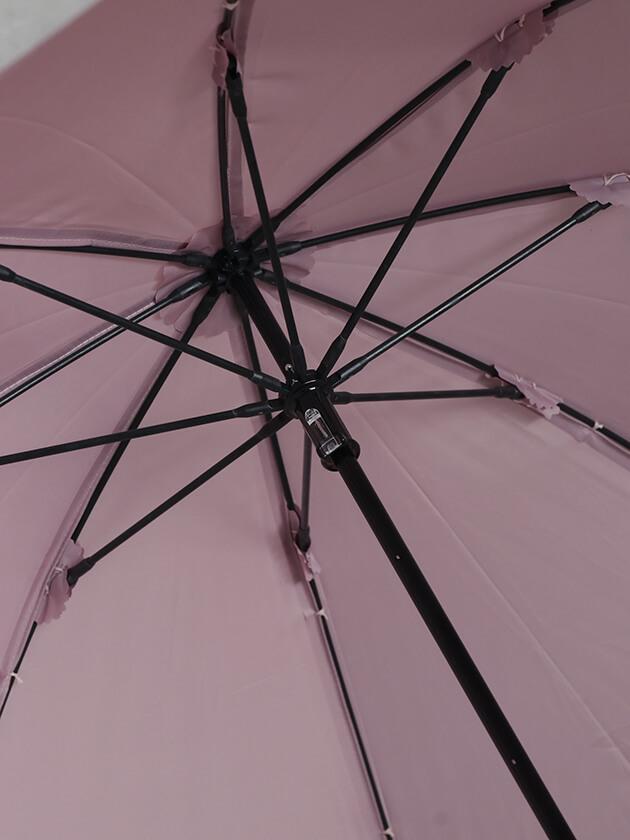 Kiwandaショート傘エステルシャンブレーパール