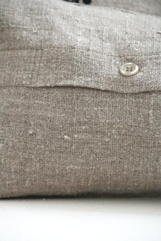 Anne Beckerリネンクッションブランチブラック50x25cm(中綿付き)