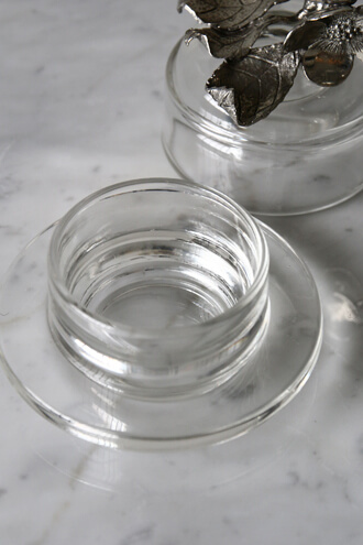 Sarah pewterガラスケースFLOWER