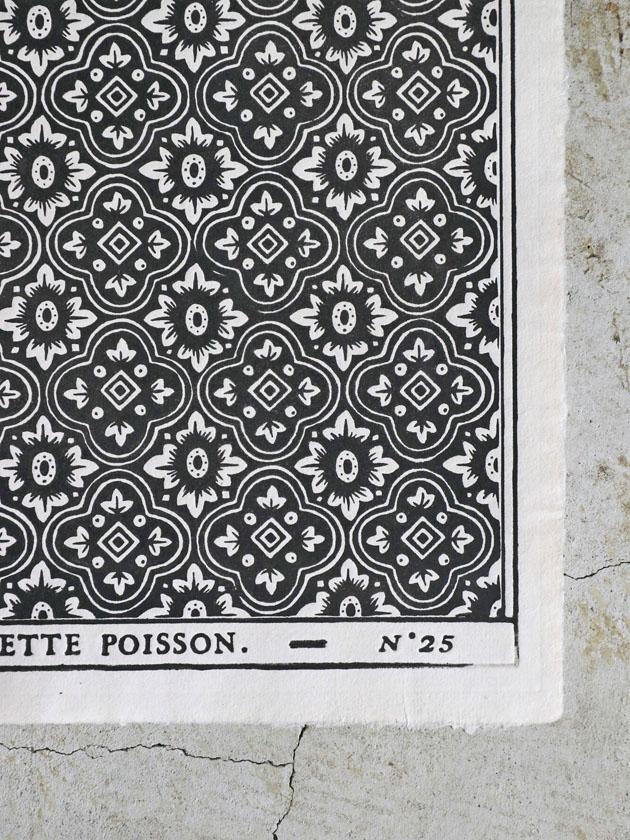 Antoinette Poissonドミノペーパー25A ブラック