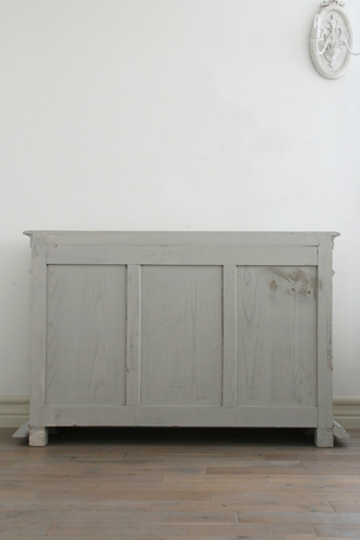 フレンチアンティーク キャビネット グレー&ホワイト No.4