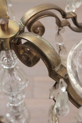 フレンチアンティークテーブルランプFrank