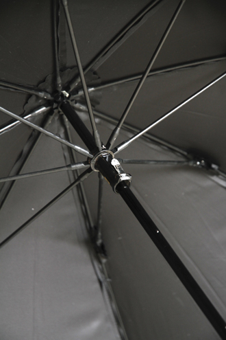 Kiwanda傘タフタパール付き ハンドルウッド ブラック