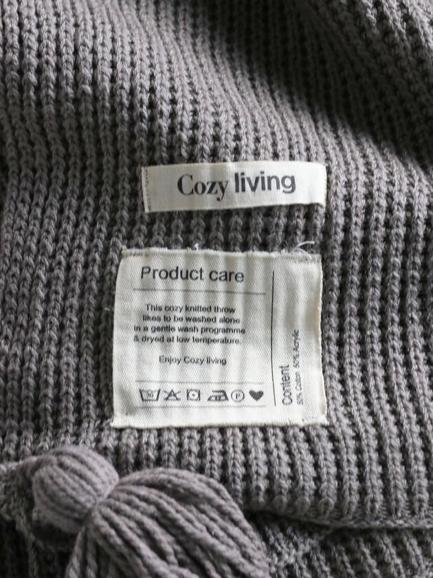 Cozy LivingスローTasselグレー