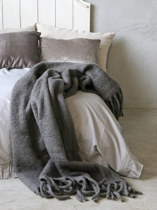 Cozy LivingスローMatheaチャコールグレー