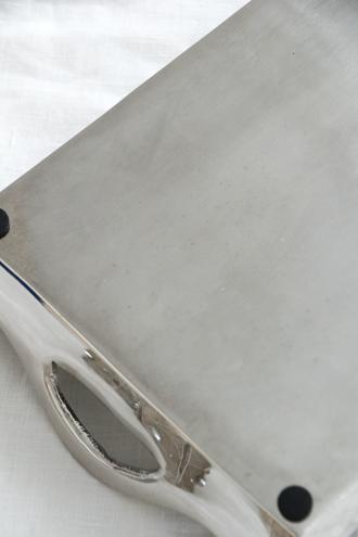 Cote Table トレーGORTYNE シルバー 30x20cm