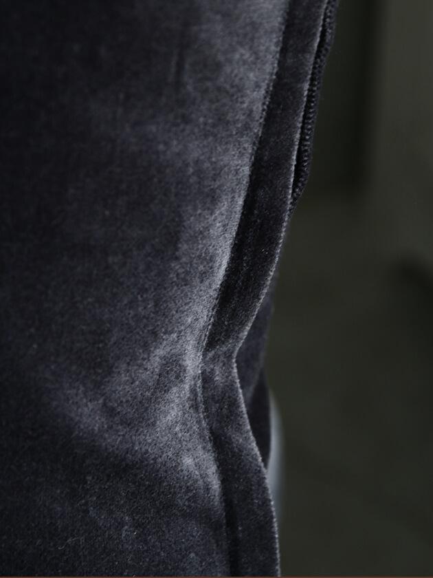 ML FabricsクッションカバーTomベルベットダークグレー50x50cm