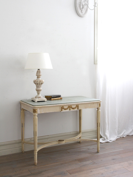 Gustavian Antiqueコンソールテーブル マーブルトップ 1900年代初頭