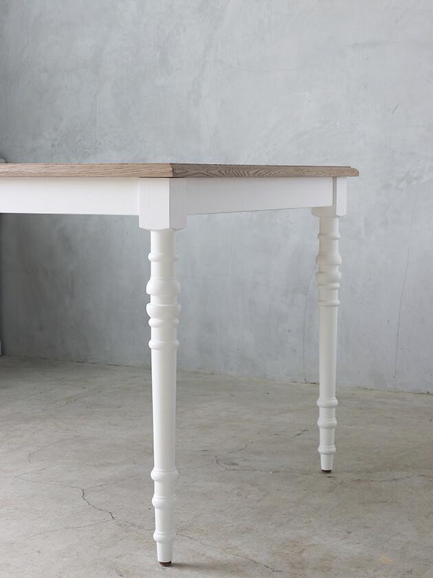 SGDダイニングテーブルアン160cmホワイトTopナチュラルCn