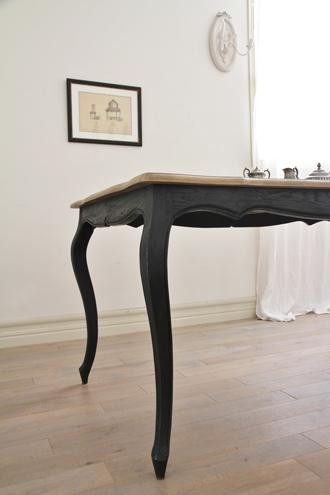SGDダイニングテーブルElegance160cmブラックTopナチュラルCn