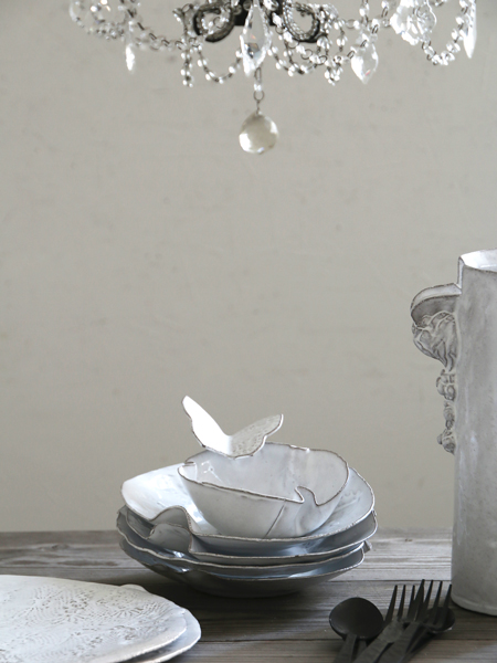 JBAdeV,creations depuis 1993 / Jean Baptiste Astier de Villatteファルフェルスープ皿バタフライ(048/005/116)