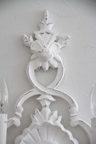 BLANC D'IVOIREウォールランプELISABETH2灯 ホワイト