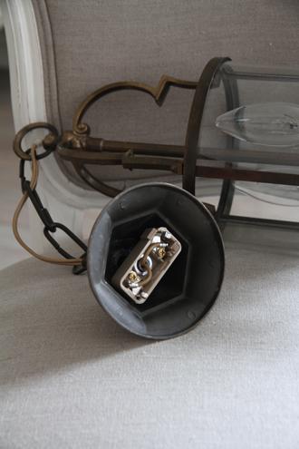 フレンチアンティークラウンドランプS