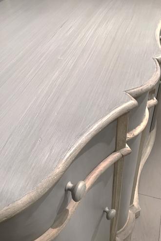 Blanc Natureサイドボード ブルーグレー
