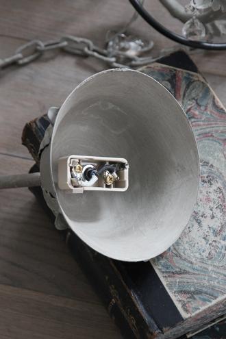 BLANC D'IVOIREシャンデリアELYSEE 4灯PMアンティークグレー